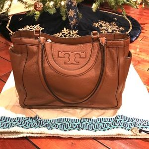 Tory Burch Tan Leather Satchel w/shoulder Strap